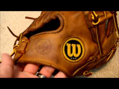 Vintage Wilson A2000 XLO Baseball Glove Relace - Before and After Glove Repair