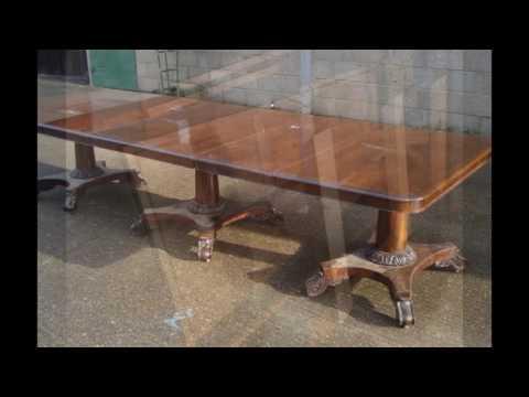 table triple pedestal