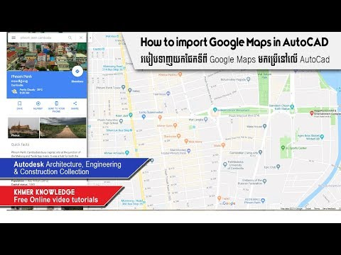 How to import Google Maps in AutoCAD