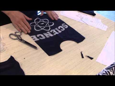 How to make a baby shirt from an adult t-shirt