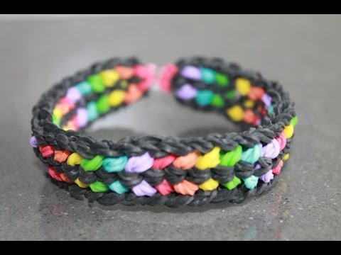 Rainbow loom Nederlands, double capped dragon scale armband