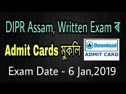 DIPR Assam Admit Card : 49 Posts Of Group A/ G/ F