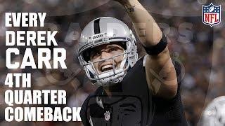 Every Derek Carr 4th Quarter Comeback! | NFL