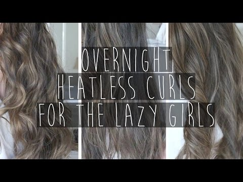 How to | 3 DIY Heatless Overnight Hair Curls & Waves | Eva Chung