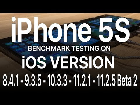 iPhone 5S : Side by side Benchmark Test of  iOS 8.4.1 - 9.3.5 - 10.3.3 - 11.2.1 - 11.2.5 Beta 2