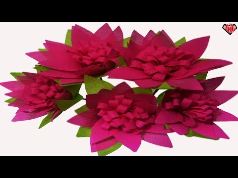 How To Make Shopping Bags Mum Flowers || DIY Carry Bags Flower
