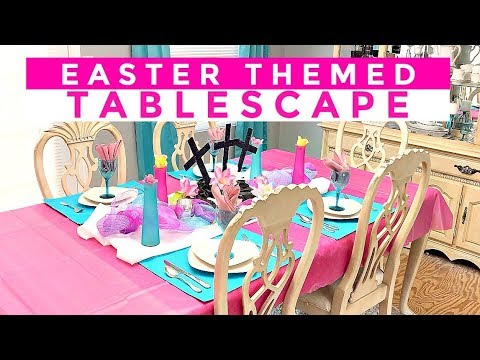EASTER TABLESCAPE DOLLAR TREE STYLE