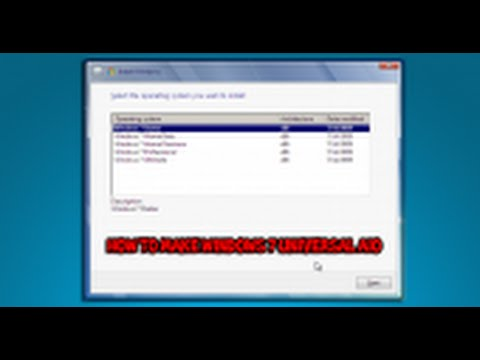 How to Create a Universal Windows 7 AIO Installation Disc