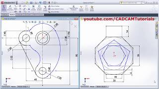 SolidWorks Exercises for Beginners - 1 | SolidWorks Practice