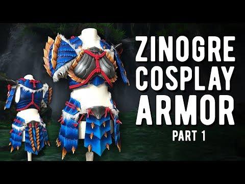 LED Zinogre Armor Part 1 - Monster Hunter