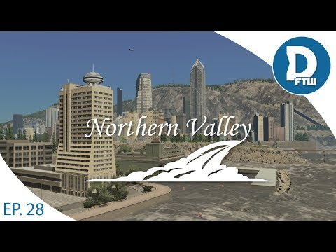Let's Design Northern Valley Ep.28 - Beginning our Tourism/Leisure Island - Cities Skylines