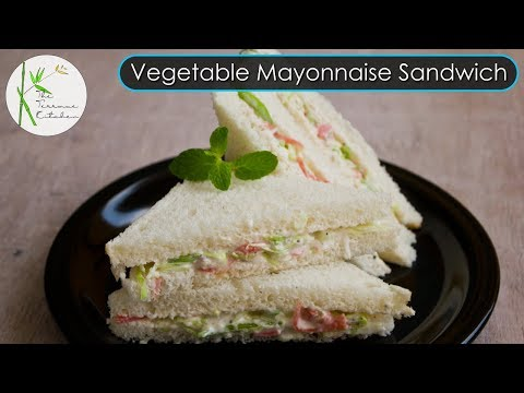 Mayonnaise Sandwich Recipe | Veg Mayo Sandwich | Kids Lunchbox Recipe ~ The Terrace Kitchen