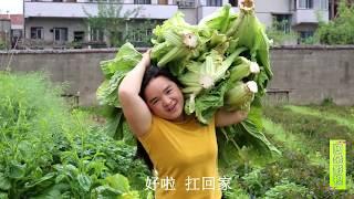 吃不完的大青菜,农村大姐一做,放10年不坏,太香了