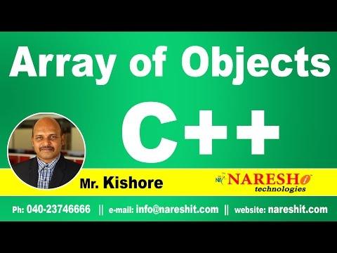 Array of Objects in C++ | C ++ Tutorial | Mr. Kishore