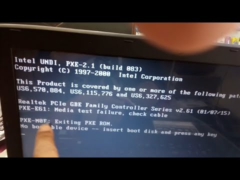 pxe mof exiting pxe rom no bootable device