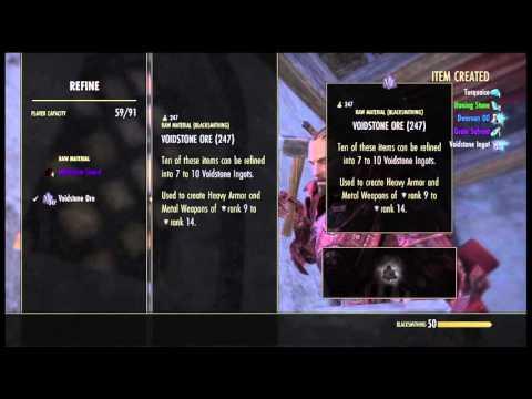 The Elder Scrolls Online:Refining voidstone ore