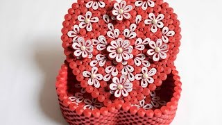 Quilled Heart Box / DIY Valentine Gift / Heart shaped box