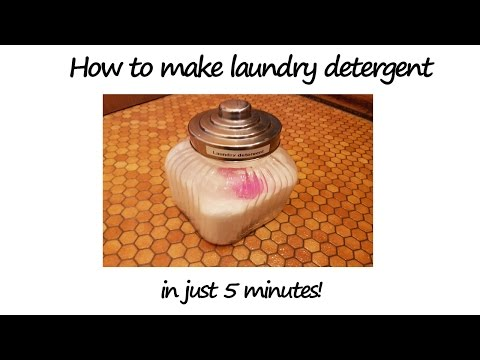 How to make Laundry Detergent in 5 minutes: homemade, hypoallergenic & no Borax!