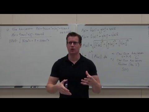 Calculus 3 Lecture 12.3:  Arc Length/Parameterization, TNB (Frenet-Serret) Intro