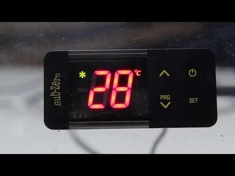 SubZero temperature controller settings