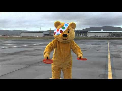BBC Pudsy children in need - Belfast city airport