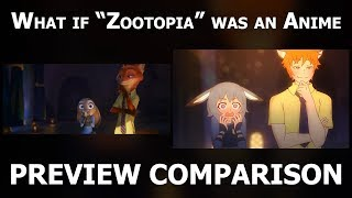 By Mike Inel What If Zootopia Was An Anime Preview Comparison 4K