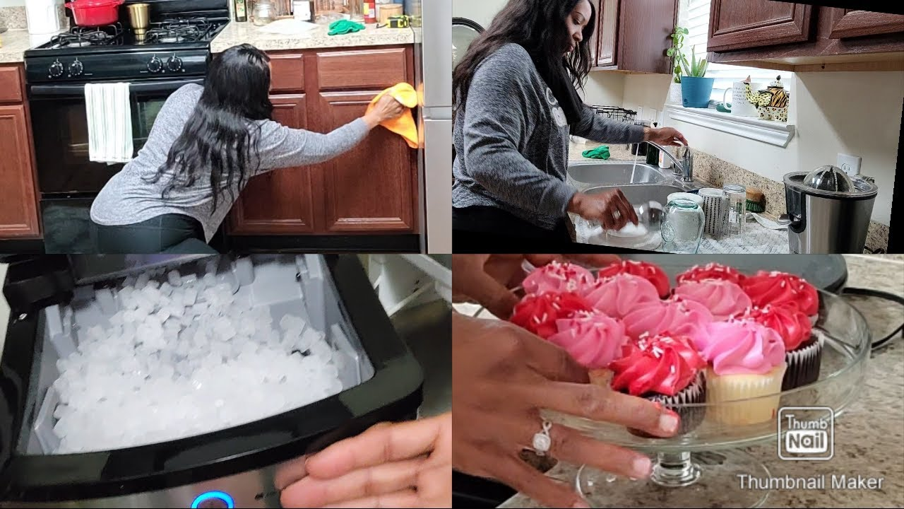 CLEAN WITH ME KITCHEN EDITION! NEW ICE MAKER|| HAPPY VALENTINES DAY