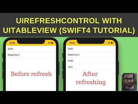 Swift Tutorial: UIRefreshControl with UITableView Swift4