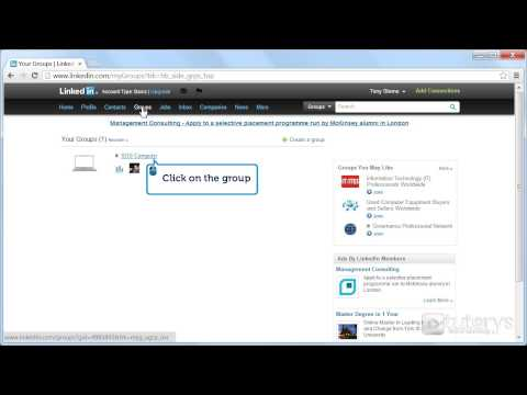 How to contact a member of a group with LinkedIn ?