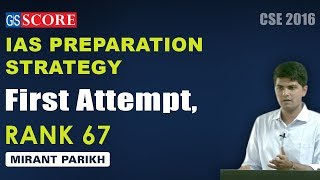 IAS Topper Mirant Parikh Rank 67, First Attempt, Discussion on IAS preparation strategy