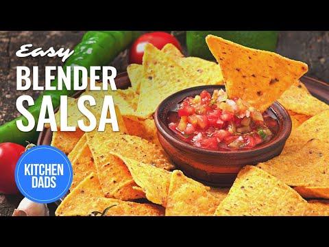 Easy Blender Salsa Recipe   How to Make Blender Salsa   Kitchen Dads Cooking