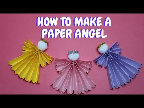 How to Make a Paper Angel   Christmas Ideas   Paper Craft
