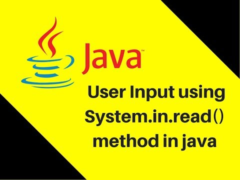 9.3 User Input using System.in.read() method in java