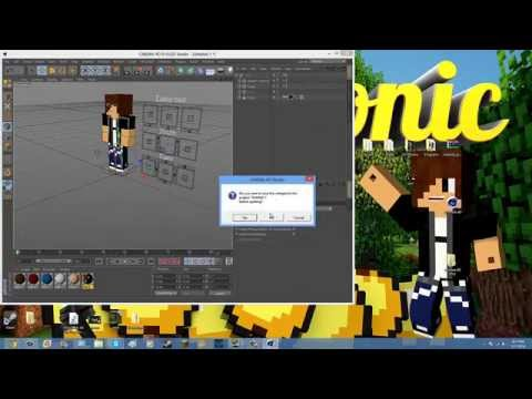 Cinema 4D: How to put your minecraft skin into a steve rig