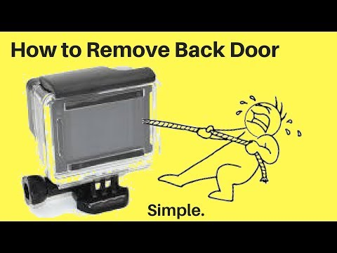 How to Remove & Change | GoPro HERO 4 Back Door