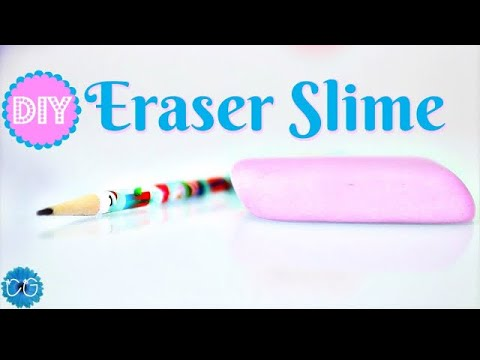 How to make eraser slime( no borax no cornstarch)