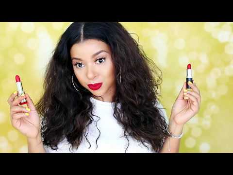RED LIPSTICKS FOR VALENTINES DAY | DRUGSTORE AND HIGH END | GirlRatesWorld