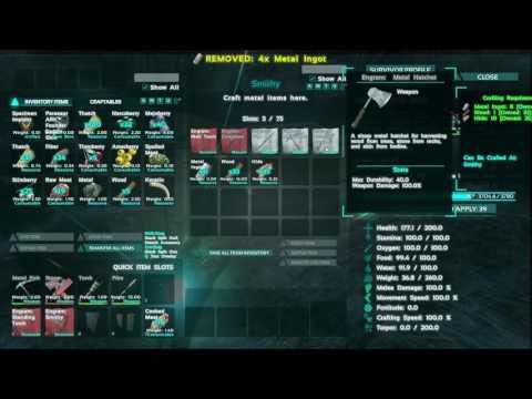 How to make Metal Hatchet - ARK Survival Evolved