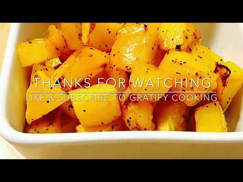 how to bake butternut squash cubes recipe