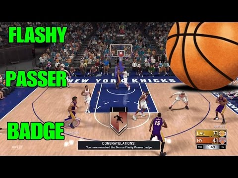 NBA 2K17 SUPER EASY WAY TO GET FLASHY PASSER BADGE