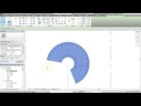 How to draw a spiral stairs in Revit
