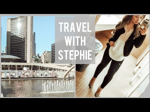 🇨🇦 Realness of Work Travel + OOTW + Hotel Upper Body Workout  TRAVEL VLOG
