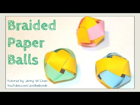 How to Make a Paper Ball - Paper Beads - Braided Paper Ball Decoration: Garland Room Ornament