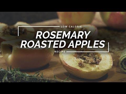 Rosemary Baked Apples | Vegan Stuffed Apple Recipe