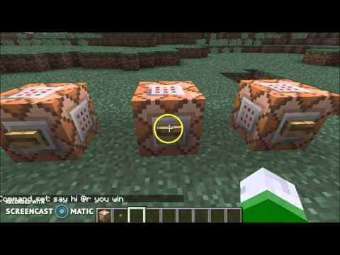 how to make a command block say somyhing
