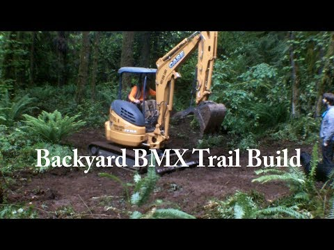 Backyard BMX Trail Build