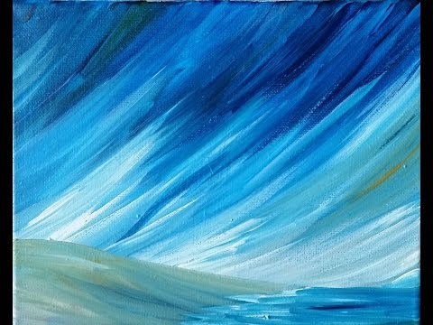 Stormy Beach Step by Step(ish) Acrylic Painting on Canvas for Beginners