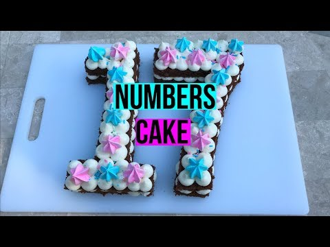 How To Make a NUMBERS CAKE - Baking With Ryan Episode 69