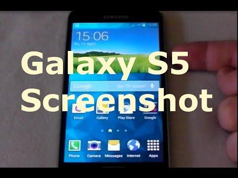 Samsung Galaxy S5 Screen capture