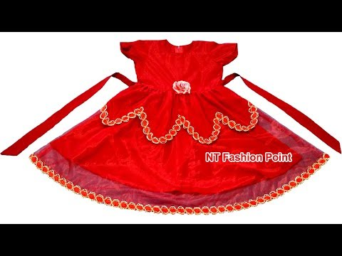 How to make top, beautiful designer & stylish baby dress | Cutting & stitching tutorial